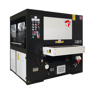 Medium-thick metal parts de-slagging and edge rounding machine