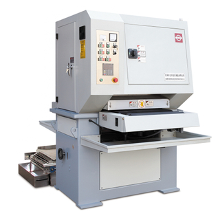 Simple yet efficient entry level wet operation wide abrasive belt sanding machine