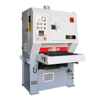 Simple yet efficient entry level wide abrasive belt sanding machine